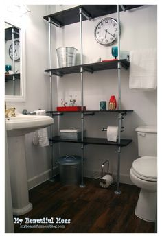 Galvanized Pipe Shelves on Pinterest | Galvanized Pipe ...