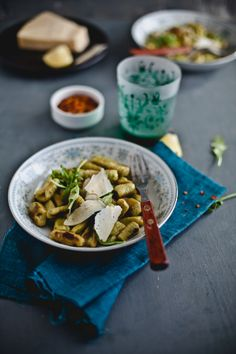 Arugula gnocchi with spicy brown butter sauce