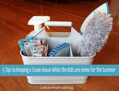 5 Tips to Keeping a Clean House While the Kids are Home for the Summer
