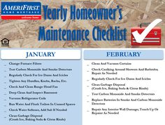 How does a homeowner plan out their yearly home maintenance? It's not easy. This home maintenance checklist should help!