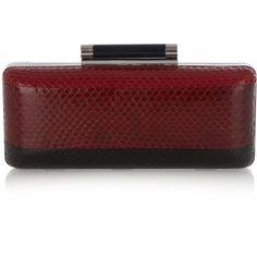Diane Von Furstenberg Large Tonda striped clutch ($314) ❤ liked on Polyvore