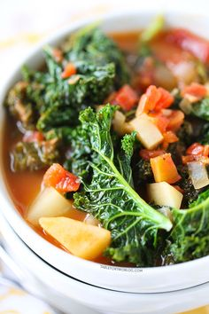 Tomato, Kale, and Potato Soup - Table for Two