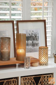 DIY: aluminum sheet candle holders