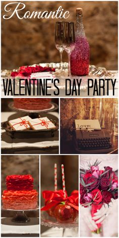 What a romantic Valentine's Day dinner party, very grown up! See more party ideas at CatchMyParty.com. cake, bouquet, bottl, vday parti, dinner parties, parti idea, treat