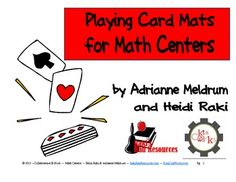 Playing Card Mats for Your Math Centers