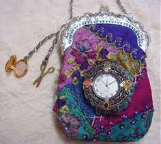 I ❤ crazy quilting & embroidery . . . Crazy Quilt sewing purse/chatelaine  ~By Pat Winter (repinned via Pat Winter)