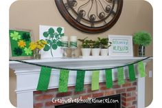 St. Patty's Day Mantle