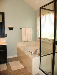 Use Rustoleum paint to update the bathroom.