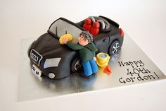 audi cake too cute!! we love the detail and glad to see he is taking car of his Audi TT even in cake form!