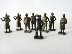 Little vintage Metal soldiers toys 5 types and 3 by wwvintage; $19