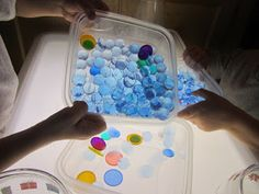 Light Table with Water Beads