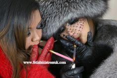 leatherfur glove, fur fetish