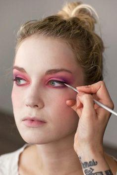Hunger games makeup DIY (photos by Amelia Alpaugh)