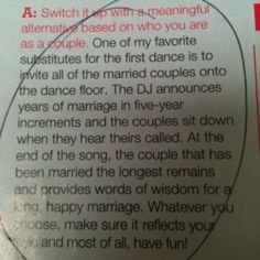 What a great & unique idea. Maybe not substitute the first dance, but include it during the reception!