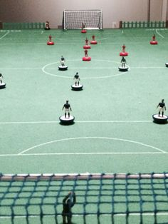 Subbuteo table soccer by peter schaad on pinterest pegasus painted fan and villas - Who invented table football ...