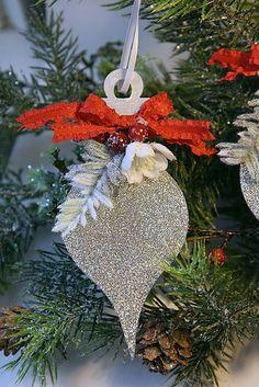 Handmade Christmas Glitter Ornaments