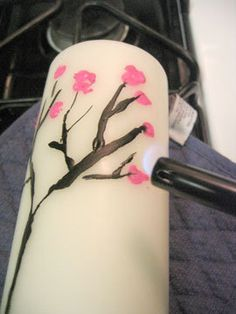 How to Paint Candles with Crayons project, idea, crafti, art, candles, paints, crayons, diy, paint candl