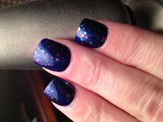 OPI Yoga-Ta-Get This Blue with Polka.Com on top