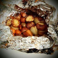 potatos on the grill.
