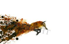 Fox Watercolor Print by TCsART on Etsy, $75.00 Watercolor Fox Tattoo, Fox Watercolor, Watercolor Tattoo Fox, Fox Tattoo Watercolor