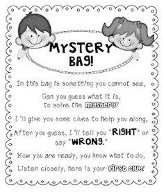 The Creative Chalkboard: Mystery Bags {Freebie}