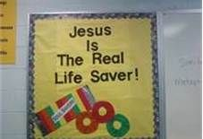 Jesus life saver Bulletin Borad Display