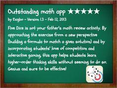 READ MORE HERE: http://www.mathfilefoldergames.com/my-math-apps/5-dice ...