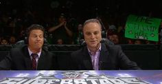 The ever handsome Scott Stanford commentating WWE Superstars on 7/19/12 with Josh Mathews.