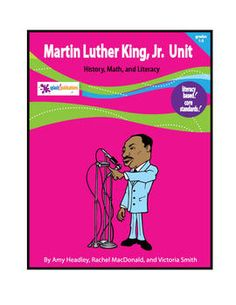 Our Martin Luther King, Jr. Unit fosters Math and Literacy in History and Social Studies for 1st-3rd grade students.     This 44-page unit is packed with Martin Luther King, Jr. themed lessons and original poems.    Students will learn about Martin Luther King, Jr. through several higher and lower level Core Standard-aligned activities.