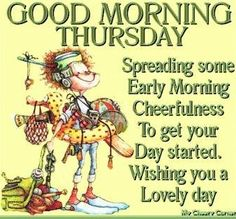 Good morning Thursday via My Cheery Corner page on Facebook More Wednesday Coffee Quotes