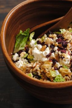 Cranberry-Walnut Salad with Feta & Apples - this is a salad everybody seems to like!