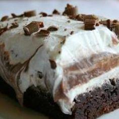 Brownie Refrigerator Cake Recipe   Just A Pinch Recipes