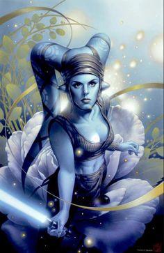 Aayla Secura. jedi, tsuneo sanda, comic, starwar, war art, star wars, aayla secura, forc, galaxi