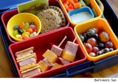 10 Healthy Kid Lunch Box Tips 7 Ideas  (scroll down to article)