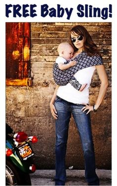 FREE Baby Sling!  {just pay s/h} ~ at TheFrugalGirls.com #baby #slings