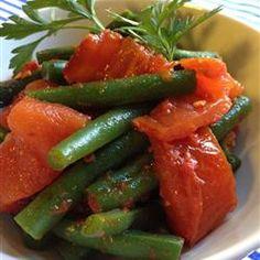 tomato allrecipescom, food, roast tomato, green beans, eat, side dish, tomato recip, tomatoes, steam green