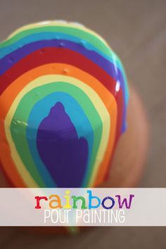 rainbow pour painting - must try this!