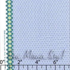Hexagon Dots Marine Blue ~ Quilt Blocks @ Sew, Mama, Sew