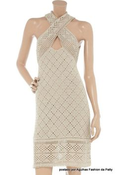 crochet dress - with some beading this would be a spectacular dress for parties