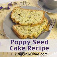 poppy seed cake recipe quick bread tips add lemon for lemon poppy seed ...