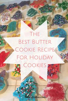 This recipe makes the best cookies to use with cookie cutters, especially for holiday shapes!