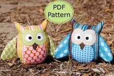 owl stuffies pattern