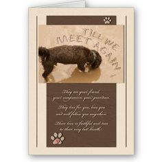 Pet Sympathy Loss of a Dog Deluxe Card from http://www.zazzle.com/wonder+pets+gifts