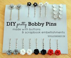 DIY pretty Bobby Pins