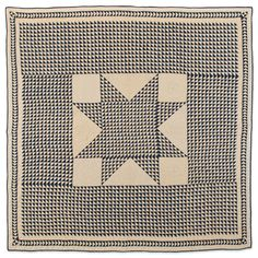 Flying Geese with Star, circa 1880, Kentucky. Blue and white quilt with thousands of half square triangles. Speed Art Museum collection.
