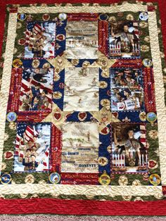 Boy scout quilt made for fundraiser. Original pattern was from Robert Kauffman Fabrics and I added to it quilt idea, boyscout, scout quilt