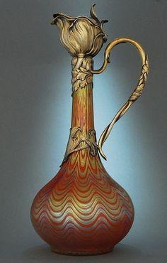 Loetz Claret Jug - Art Nouveau   c.1899