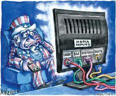 polit art, fact, funni, american media, truth, revolutions, matt wuerkerpolitico, media input, medium