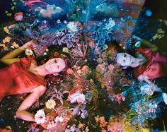 Color Burst - Marion Cotillard Shot by Tierney Gearon for The New York Times