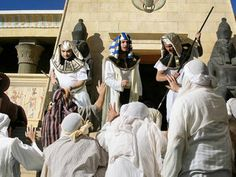 Joseph meets his brothers when they visit Egypt to buy grain. Free pictures – Genesis 41:47-42:38